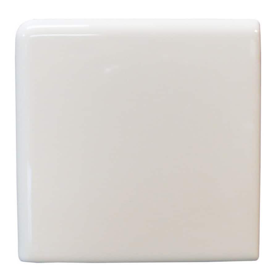 Interceramic Wall Tile White Ceramic Bullnose Tile (Common: 4-in x 4-in; Actual: 4.24-in x 4.24-in)