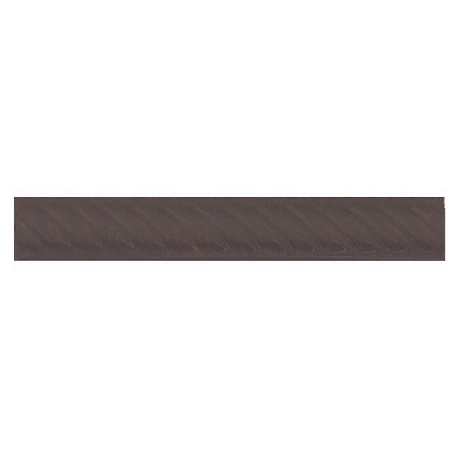 Interceramic Wall Tile Black Ceramic Pencil Liner Tile (Common: 1-1/2-in x 8-in; Actual: 1.17-in x 7.83-in)