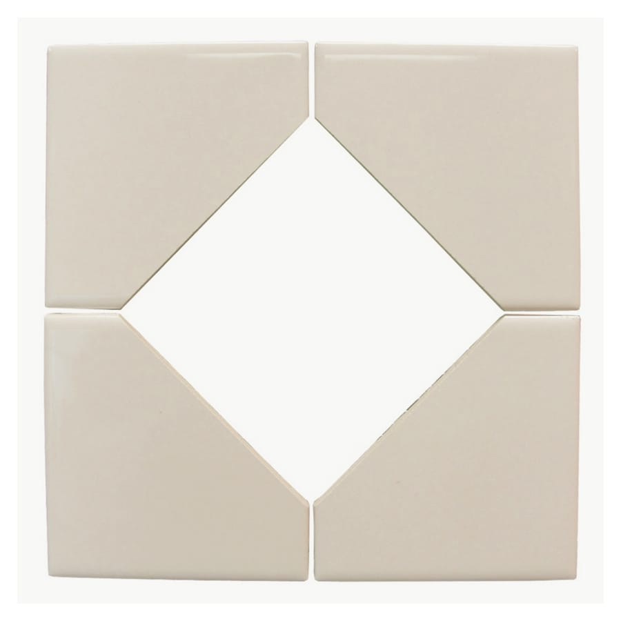Interceramic 8-1/2-in x 8-1/2-in Wall Tile Collection Bone Ceramic Square Accent Tile