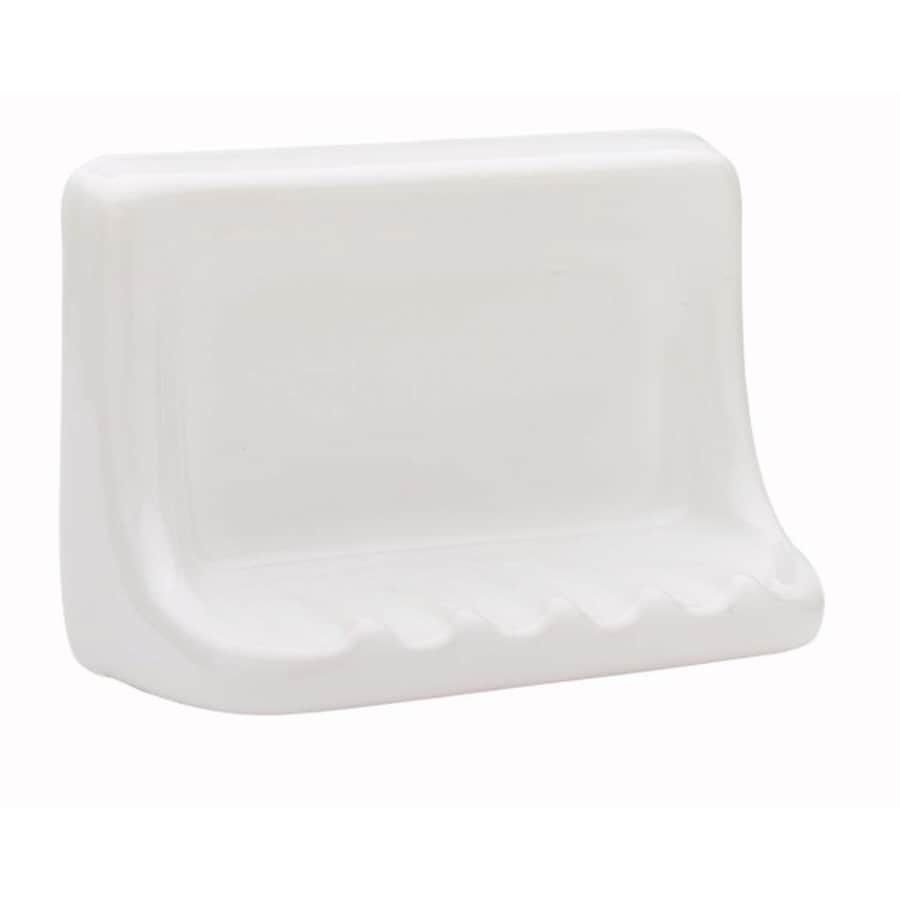 Interceramic Bath Accessories White Ceramic Soap Dish At Lowes Com
