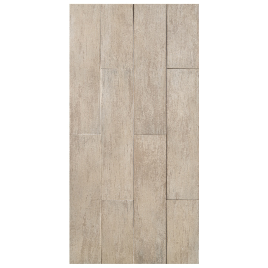 Interceramic Forestland 11-Pack Birch Wood Look Porcelain Floor Tile (Common: 6-in x 24-in; Actual: 5.91-in x 23.63-in)