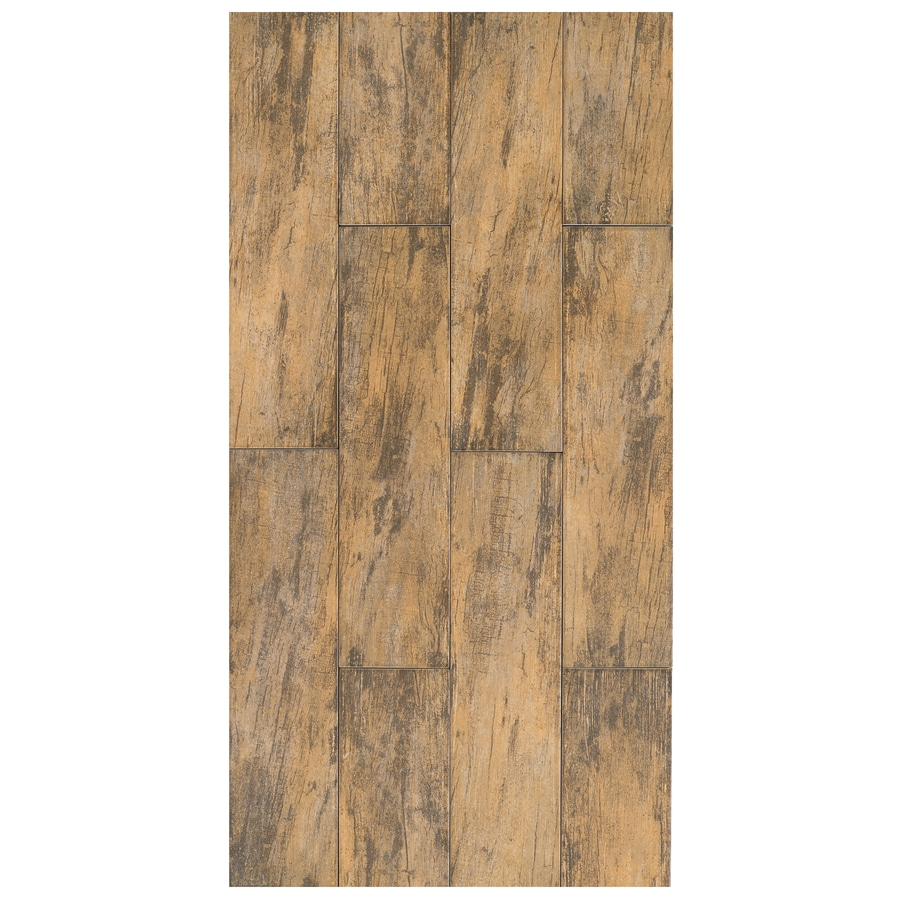 Interceramic Forestland 11-Pack Maple Wood Look Porcelain Floor Tile (Common: 6-in x 24-in; Actual: 5.91-in x 23.63-in)