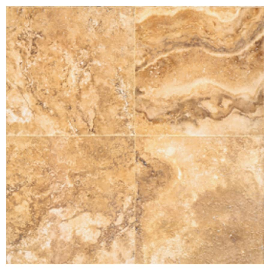 Interceramic Travertino Royal 10-Pack Gold Ceramic Floor Tile (Common: 16-in x 16-in; Actual: 15.74-in x 15.74-in)