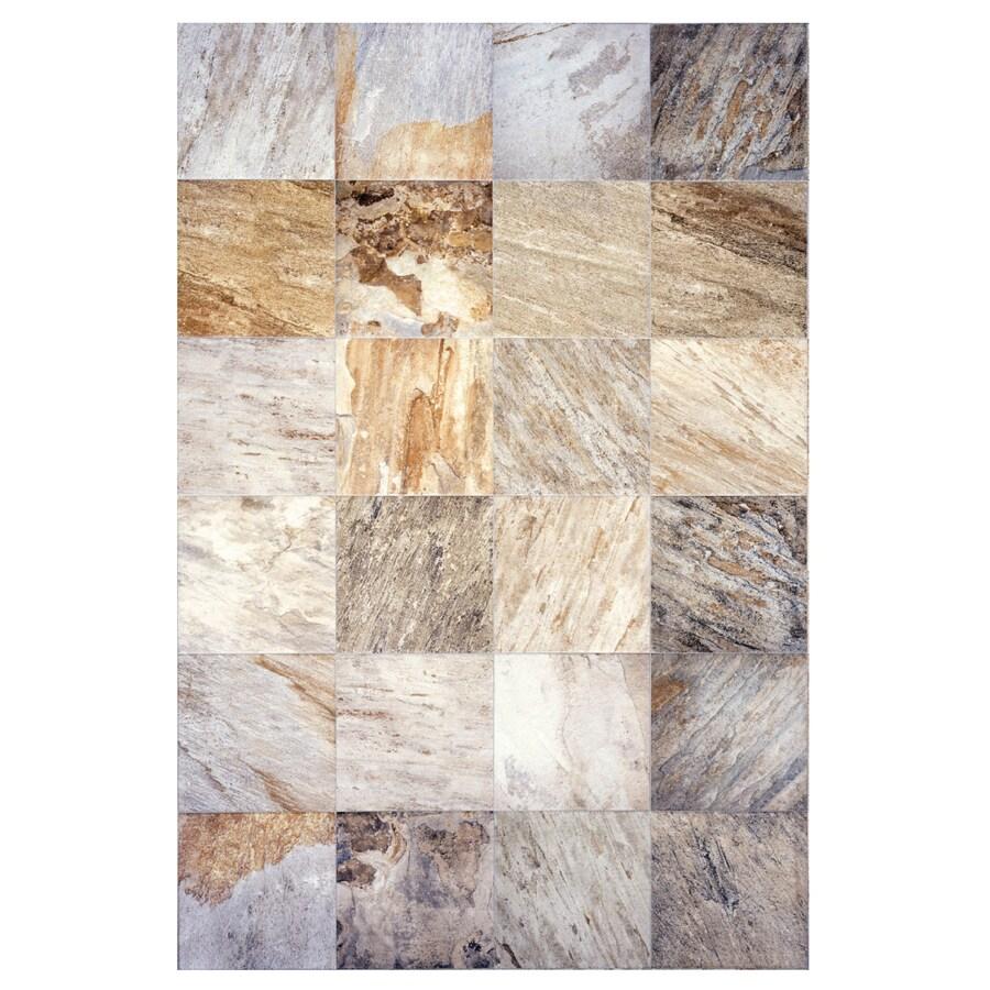 Interceramic Slate Supremo 10-Pack Winter Ceramic Floor Tile (Common: 16-in x 16-in; Actual: 15.74-in x 15.74-in)
