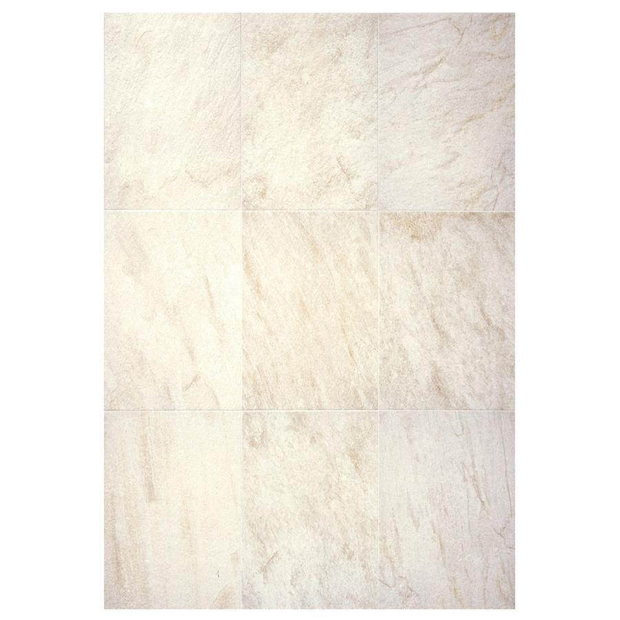 Interceramic Imperial Quartz 6-Pack Ivory Ceramic Floor Tile (Common: 16-in x 24-in; Actual: 15.74-in x 23.6-in)