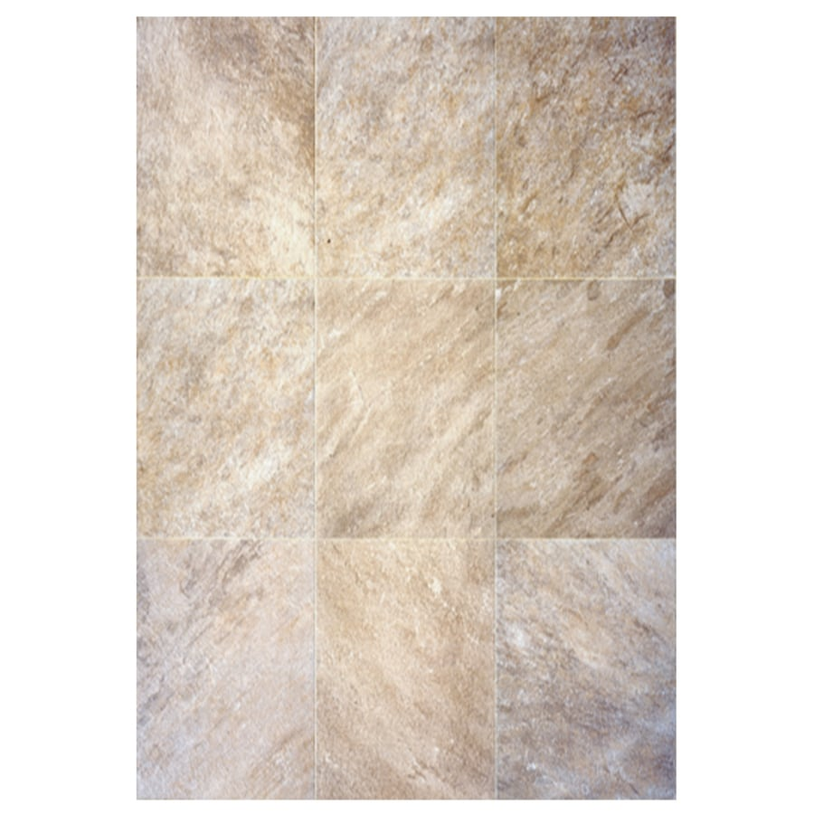 Interceramic Imperial Quartz 6-Pack Moka Ceramic Floor Tile (Common: 16-in x 24-in; Actual: 15.74-in x 23.6-in)