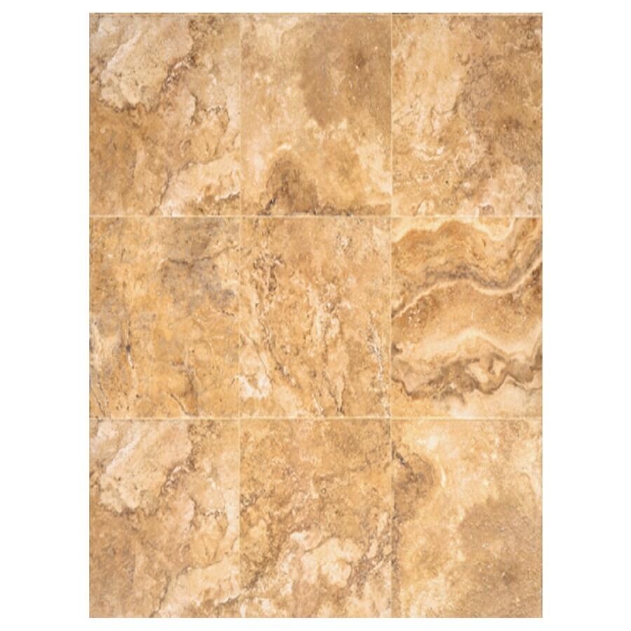 Interceramic Travertino Royal 6-Pack Gold Ceramic Floor Tile (Common: 16-in x 24-in; Actual: 15.74-in x 23.6-in)