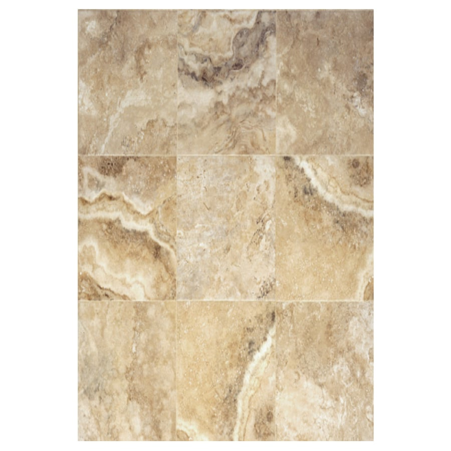 Interceramic Travertino Royal 6-Pack Walnut Ceramic Floor Tile (Common: 16-in x 24-in; Actual: 15.74-in x 23.6-in)
