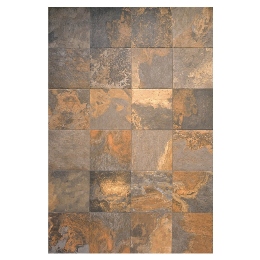 Multicolor Slate Ceramic Floor Tile