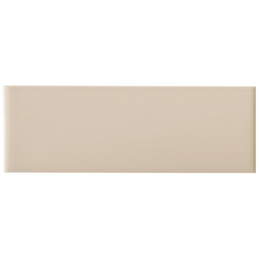 Interceramic 43-Pack Tender Tan Ceramic Wall Tiles (Common: 4-in x 12-in; Actual: 4.25-in x 12.85-in)