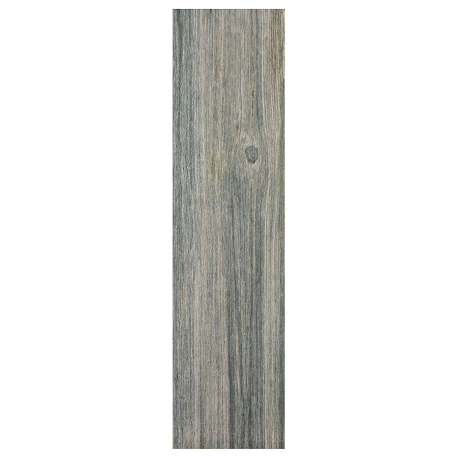 Interceramic Sunwood 9-Pack Centennial Gray Wood Look Ceramic Floor Tile (Common: 7-in x 24-in; Actual: 7.48-in x 23.6-in)