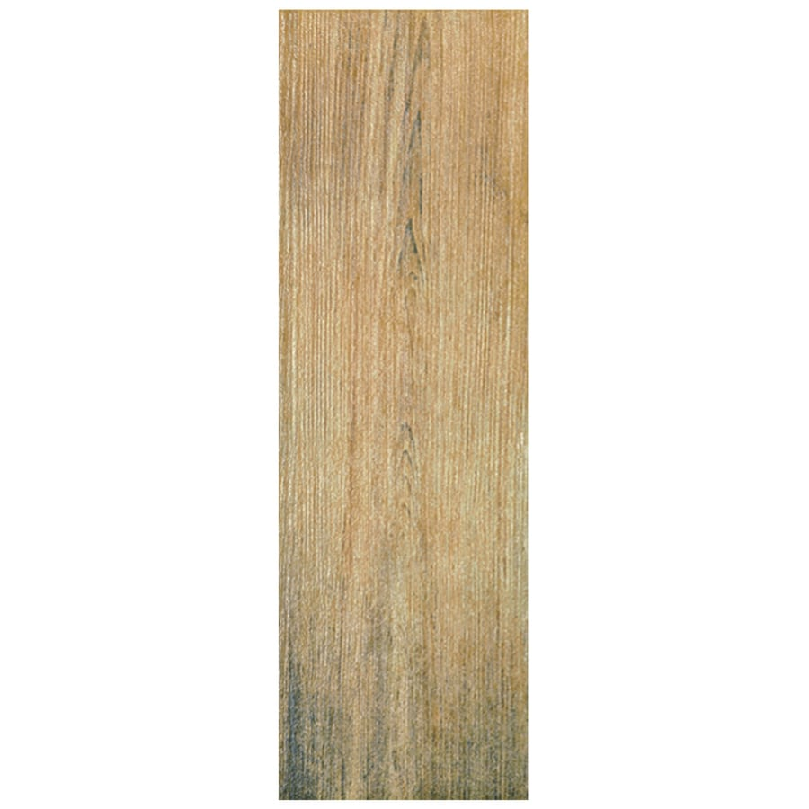 foto de Interceramic Sunwood 9 Pack Cowboy Brown Wood Look Ceramic Floor Tile (Common: 7 in x 24 in