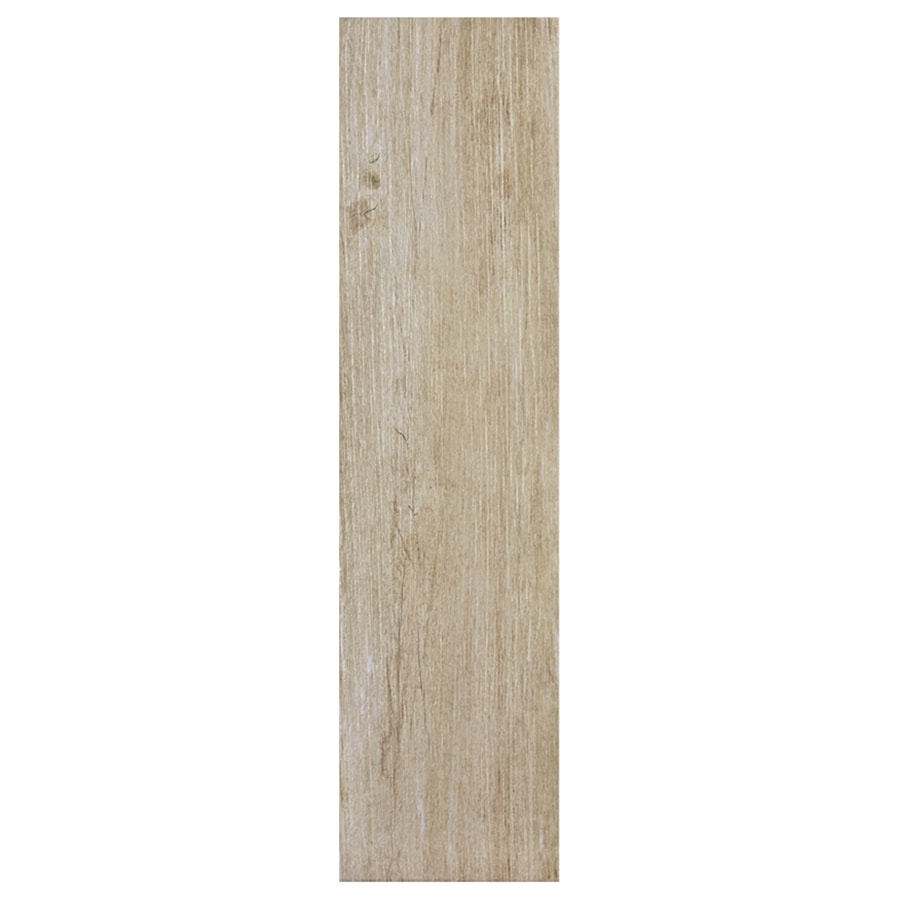 Interceramic Sunwood 9-Pack Legend Beige Wood Look Ceramic Floor Tile (Common: 7-in x 24-in; Actual: 7.48-in x 23.6-in)