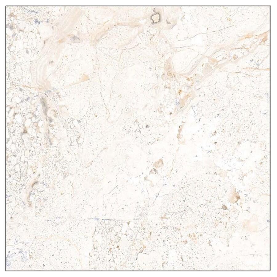 Interceramic Marble Collect 4-Pack Daino Reale Ceramic Floor Tile (Common: 23-in x 23-in; Actual: 23.23-in x 23.23-in)