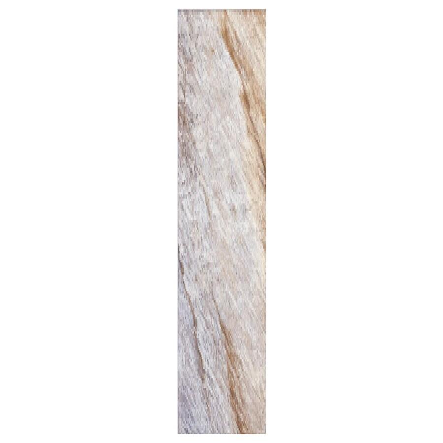 Interceramic Planks 1.0 12-Pack Winter Ceramic Floor Tile (Common: 5-in x 24-in; Actual: 4.92-in x 23.6-in)