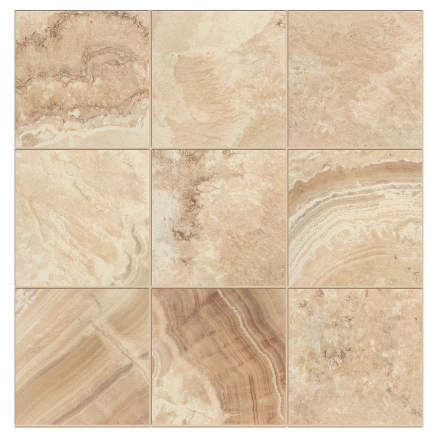 Interceramic La Travonya 14-Pack Natural Porcelain Floor Tile (Common: 13-in x 13-in; Actual: 13.19-in x 13.19-in)