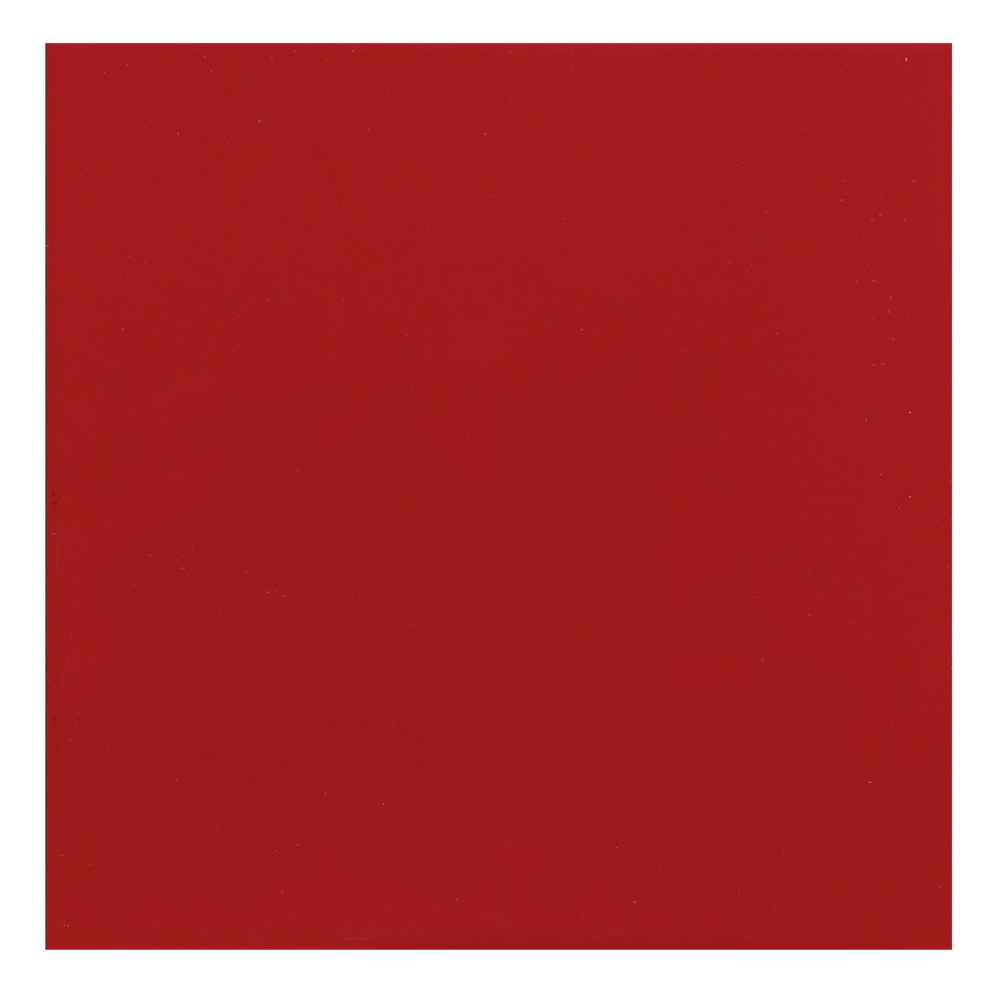 Interceramic Lipstick 78-Pack Bombshell Red Ceramic Wall Tile (Common: 4-in x 4-in; Actual: 4.24-in x 4.24-in)