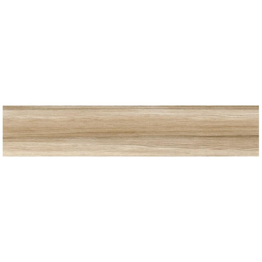 Interceramic Trio Legno 11-Pack Vanilla Wood Look Porcelain Floor Tile (Common: 6-in x 24-in; Actual: 5.9-in x 23.62-in)