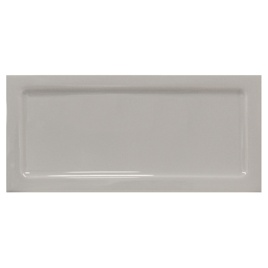 Interceramic Up and Down 80-Pack Dark Gray Down Ceramic Wall Tile (Common: 3-in x 6-in; Actual: 2.95-in x 6-in)