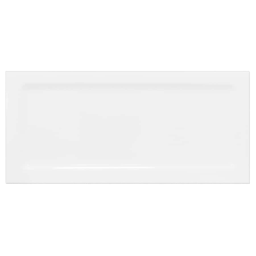 Interceramic Up and Down 80-Pack White Down Ceramic Wall Tile (Common: 3-in x 6-in; Actual: 2.95-in x 6-in)