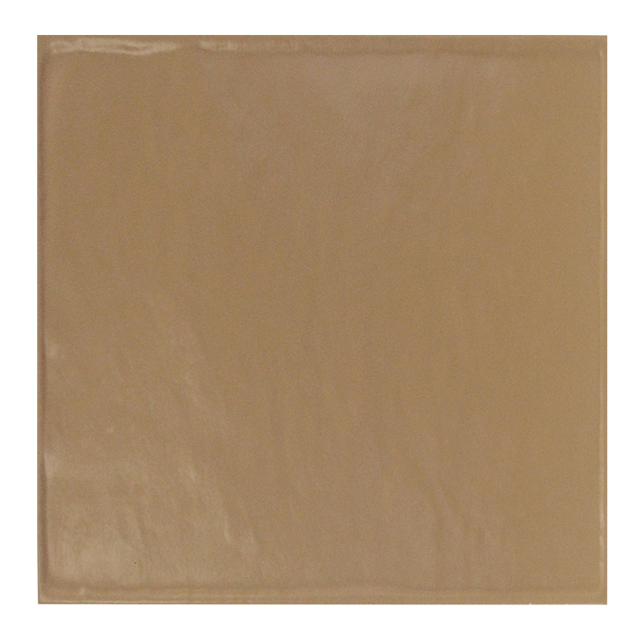 Interceramic Brick 80-Pack Cocoa Debossed Ceramic Wall Tile (Common: 4-in x 4-in; Actual: 4.27-in x 4.27-in)