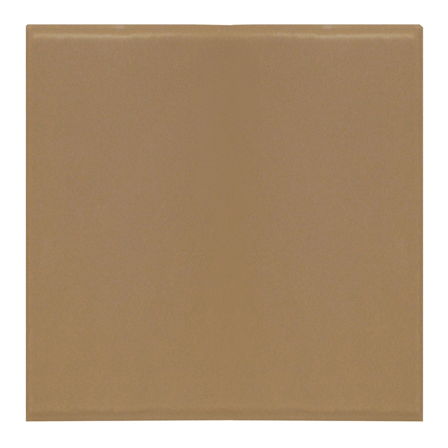 Interceramic Brick 80-Pack Cocoa Embossed Ceramic Wall Tile (Common: 4-in x 4-in; Actual: 4.27-in x 4.27-in)