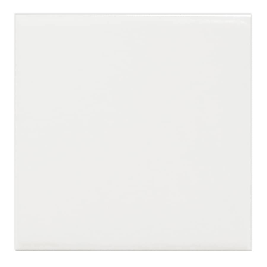 Shop Interceramic Brick 80 Pack White Embossed Ceramic Wall Tile Common 4 I