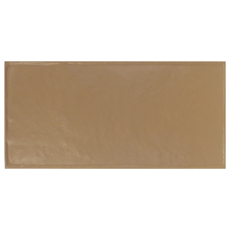 Interceramic Brick 32-Pack Cocoa Debossed Ceramic Wall Tile (Common: 4-in x 8-in; Actual: 4.24-in x 8.48-in)