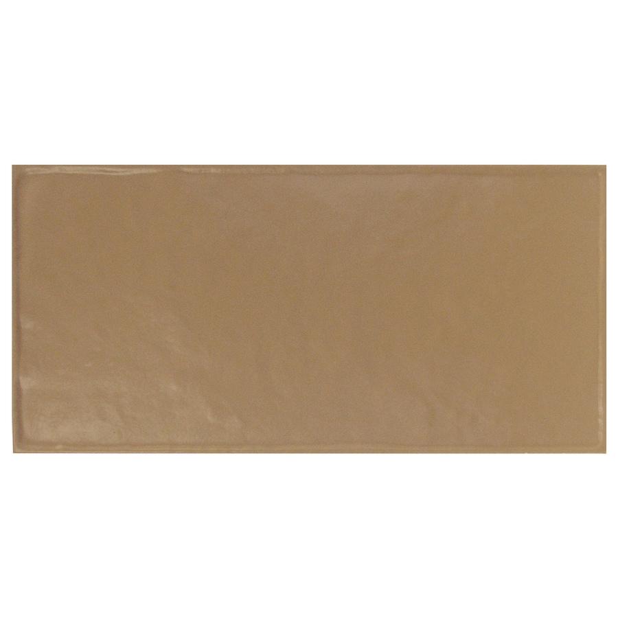 Interceramic Brick 32-Pack Cocoa Debossed Ceramic Wall Tile (Common: 4-in x 8-in; Actual: 4.24-in x 8.48-in)
