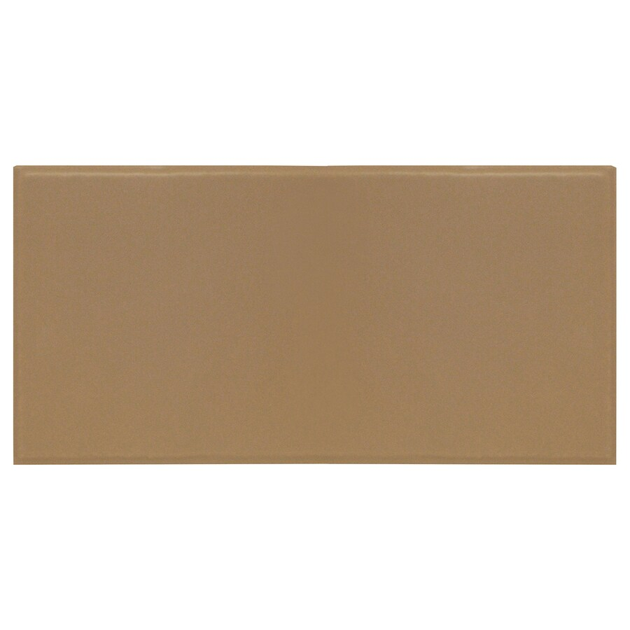 Interceramic Brick 32-Pack Cocoa Embossed Ceramic Wall Tile (Common: 4-in x 8-in; Actual: 4.24-in x 8.48-in)