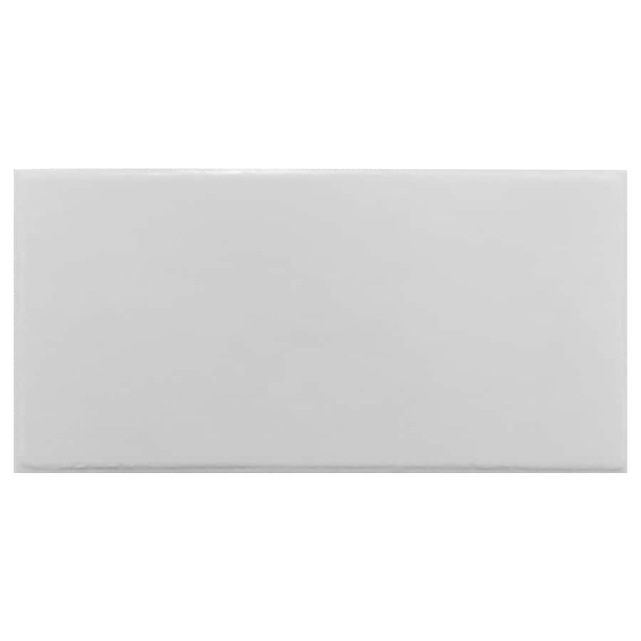Interceramic Brick 32-Pack Smoke Embossed Ceramic Wall Tile (Common: 4-in x 8-in; Actual: 4.24-in x 8.48-in)