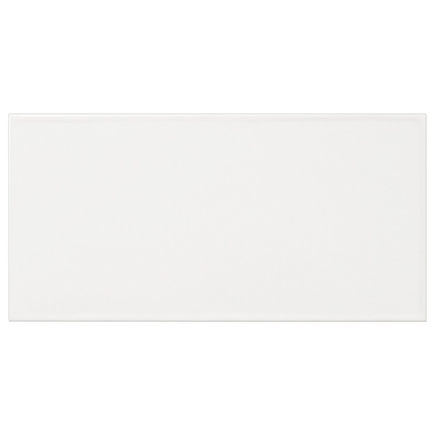 Shop Interceramic Brick 32 Pack White Debossed Ceramic Wall Tile Common 4 I