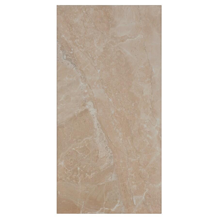Interceramic Vesubio 12-Pack Stabias Beige Ceramic Wall Tile (Common: 10-in x 20-in; Actual: 9.84-in x 19.66-in)