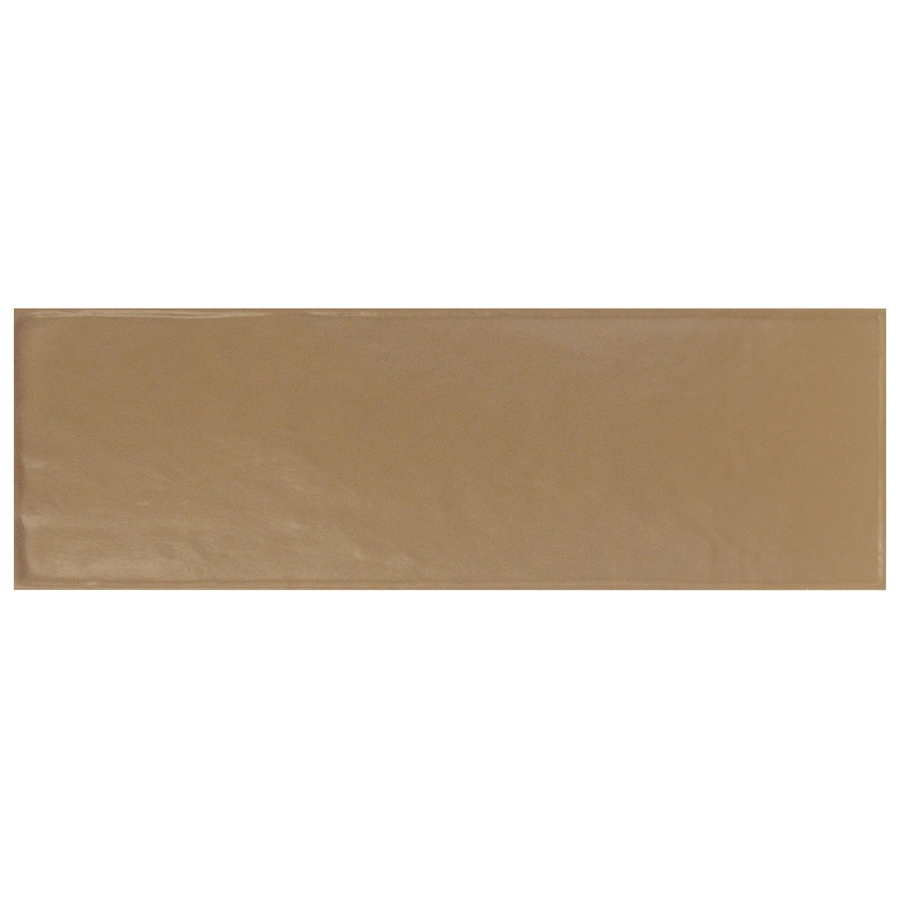 Interceramic Brick 40-Pack Cocoa Debossed Ceramic Wall Tile (Common: 4-in x 12-in; Actual: 4.29-in x 12.89-in)