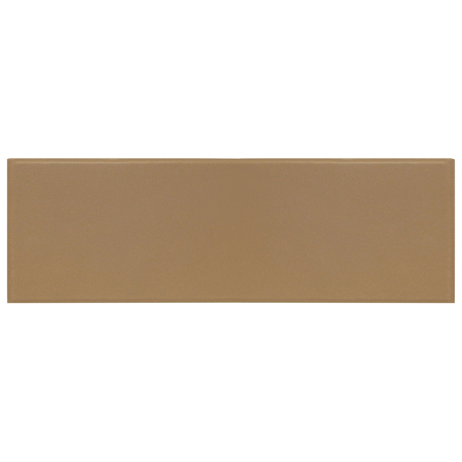 Interceramic Brick 40-Pack Cocoa Embossed Ceramic Wall Tile (Common: 4-in x 12-in; Actual: 4.29-in x 12.89-in)