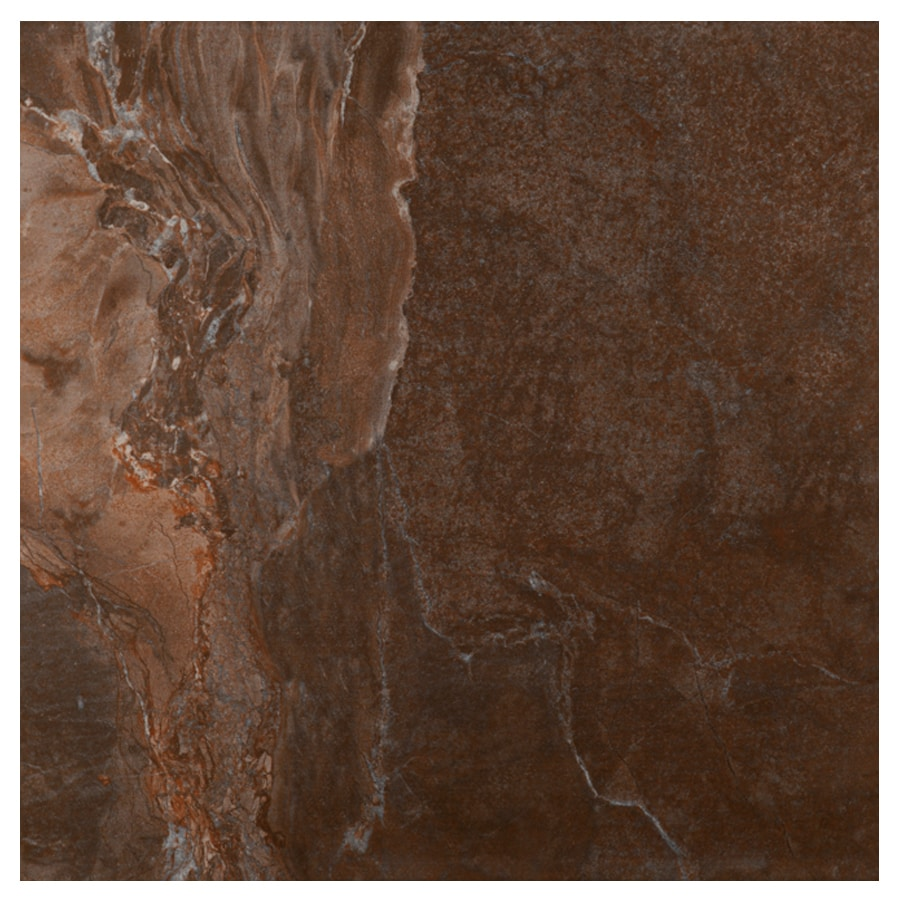 Interceramic Vesubio Brown Ceramic Floor Tile (Common: 20-in x 20-in; Actual: 19.63-in x 19.63-in)