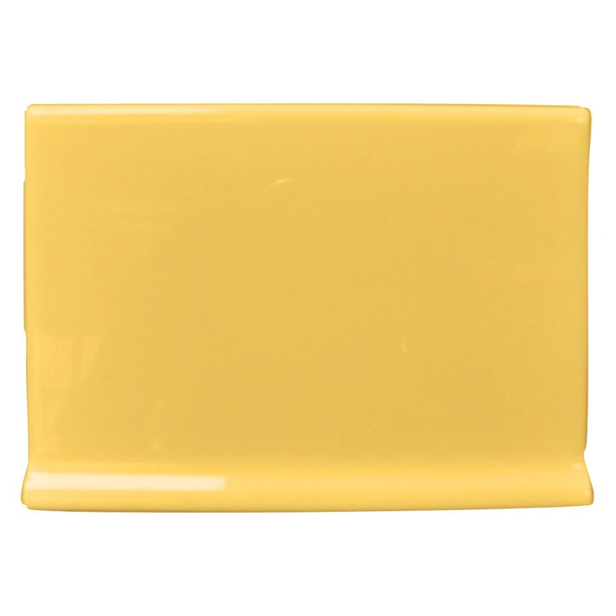 Interceramic Goldenrod Ceramic Bullnose Tile (Common: 4-in x 6-in; Actual: 4.25-in x 6-in)