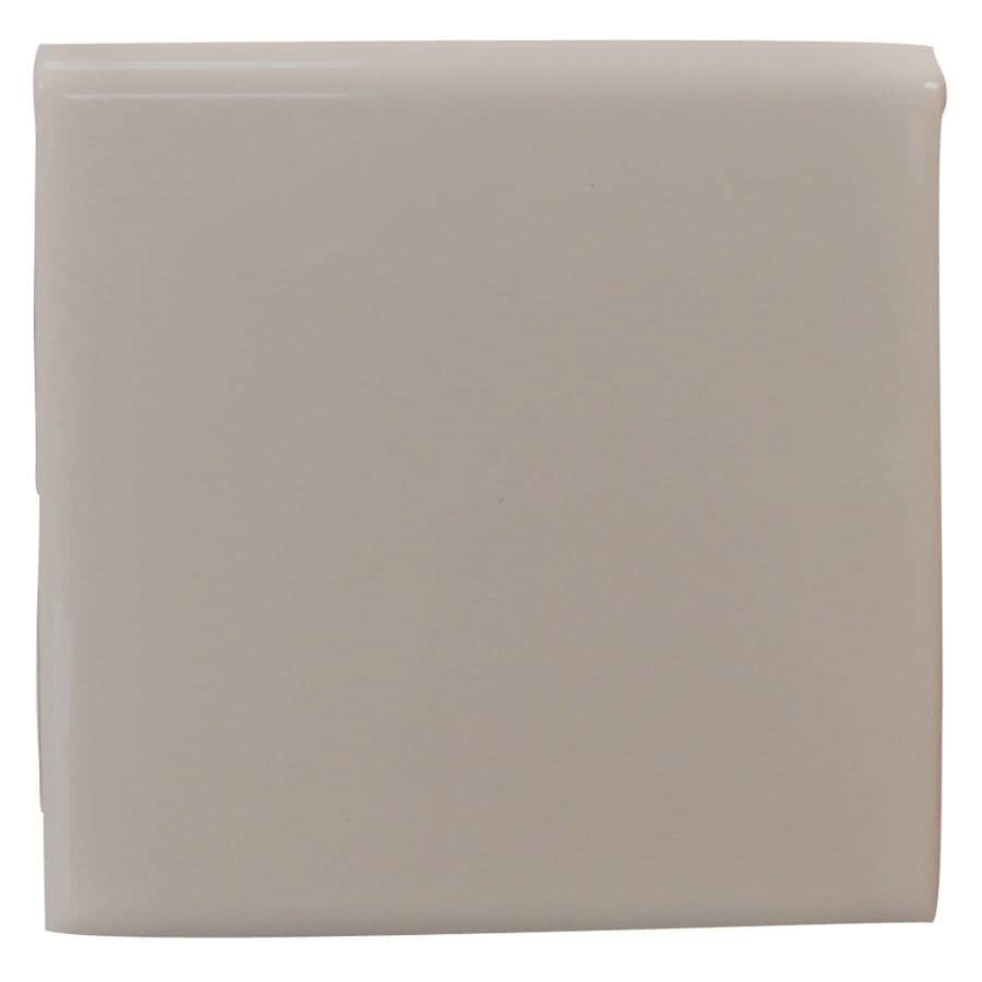 Interceramic Dark Gray Ceramic Chair Rail Tile (Common: 4-in x 4-in; Actual: 4.24-in x 4.24-in)