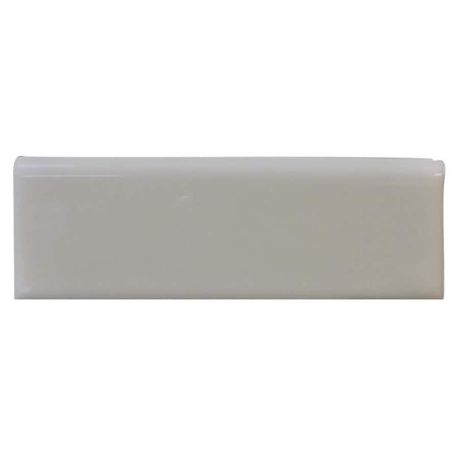 Interceramic Dark Gray Ceramic Bullnose Tile (Common: 2-in x 6-in; Actual: 2-in x 5.98-in)