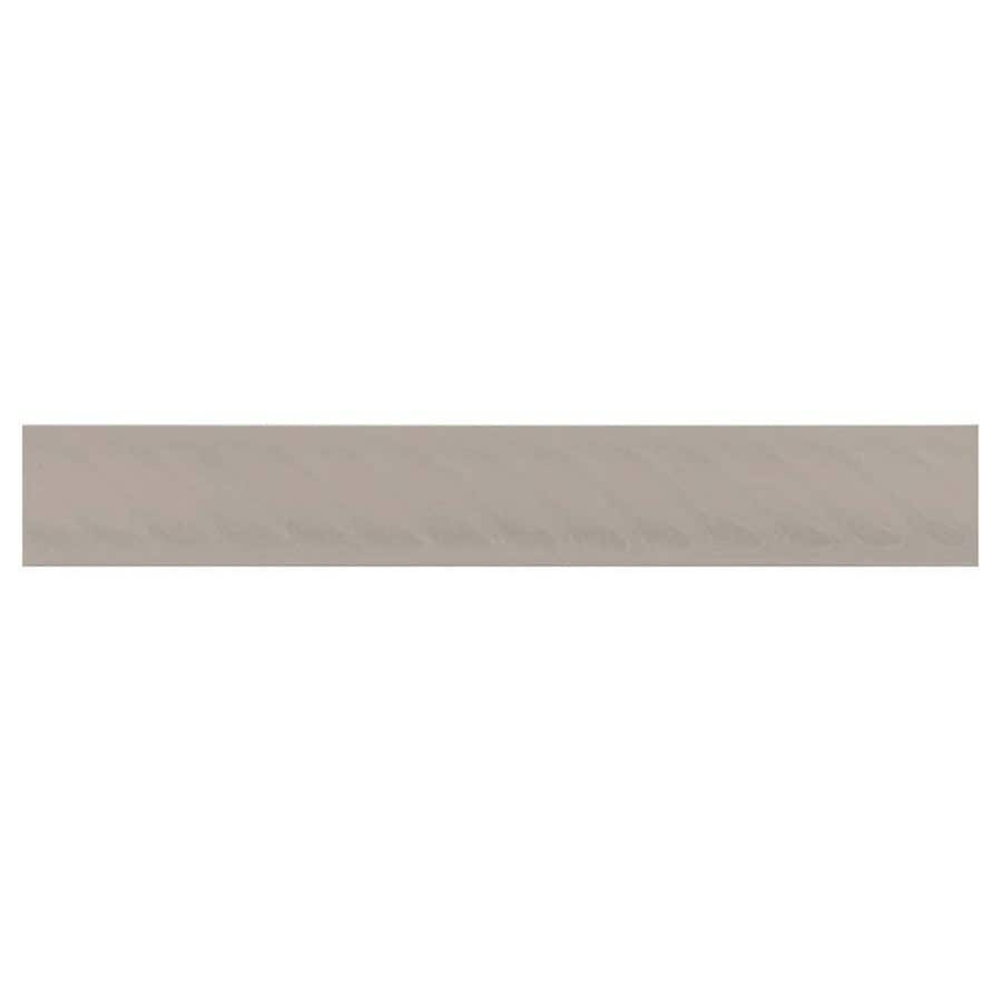 Interceramic Decorative Accents Dark Gray Ceramic Pencil Liner Tile (Common: 1-in x 8-in; Actual: 1.17-in x 7.83-in)