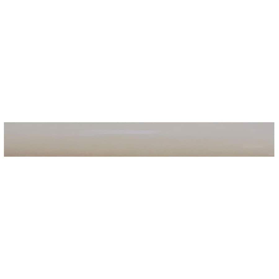Interceramic Decorative Accents Dark Gray Ceramic Pencil Liner Tile (Common: 1/2-in x 8-in; Actual: 0.48-in x 7.85-in)