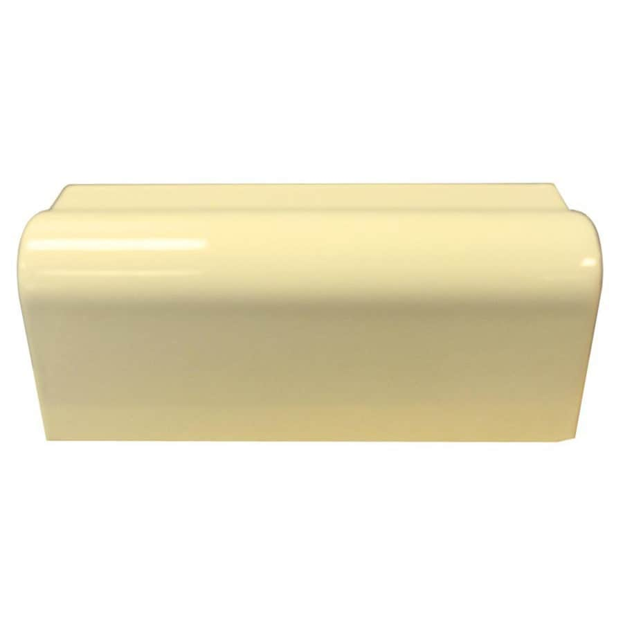 Interceramic Almond Ceramic Bullnose Tile (Common: 2-1/2-in x 6-in; Actual: 2.13-in x 6-in)