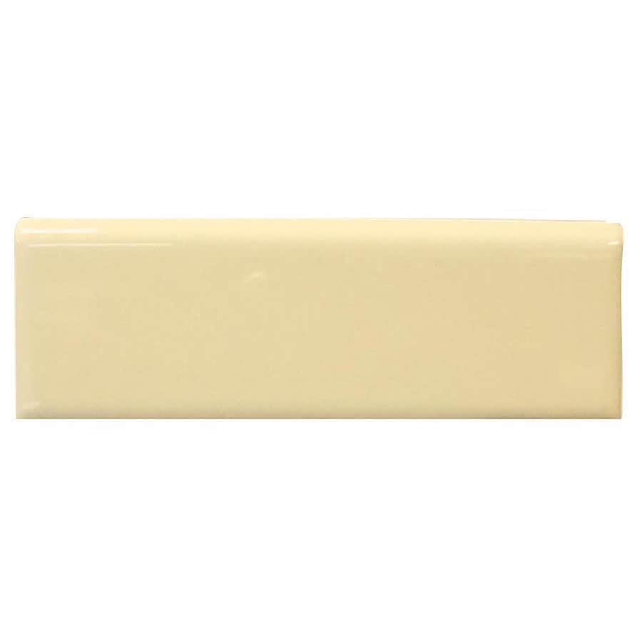Interceramic Almond Ceramic Bullnose Tile (Common: 2-in x 6-in; Actual: 2-in x 5.98-in)