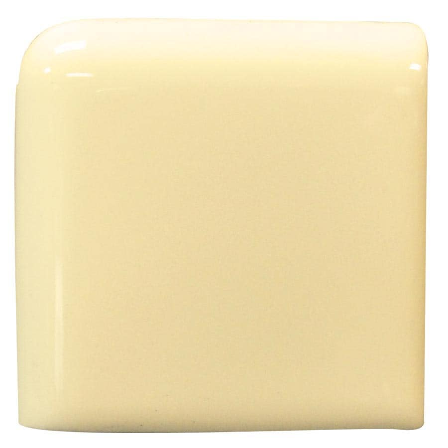 Interceramic Almond Ceramic Bullnose Tile (Common: 2-in x 2-in; Actual: 2-in x 2-in)