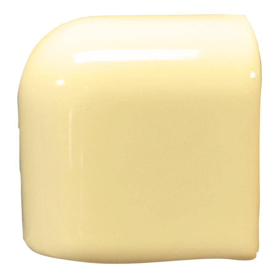 Interceramic Almond Ceramic Mud Cap Corner Tile (Common: 2-in x 2-in; Actual: 2-in x 2-in)