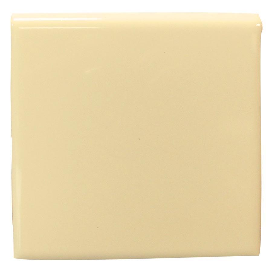Interceramic Almond Ceramic Bullnose Tile (Common: 4-in x 4-in; Actual: 4.24-in x 4.24-in)