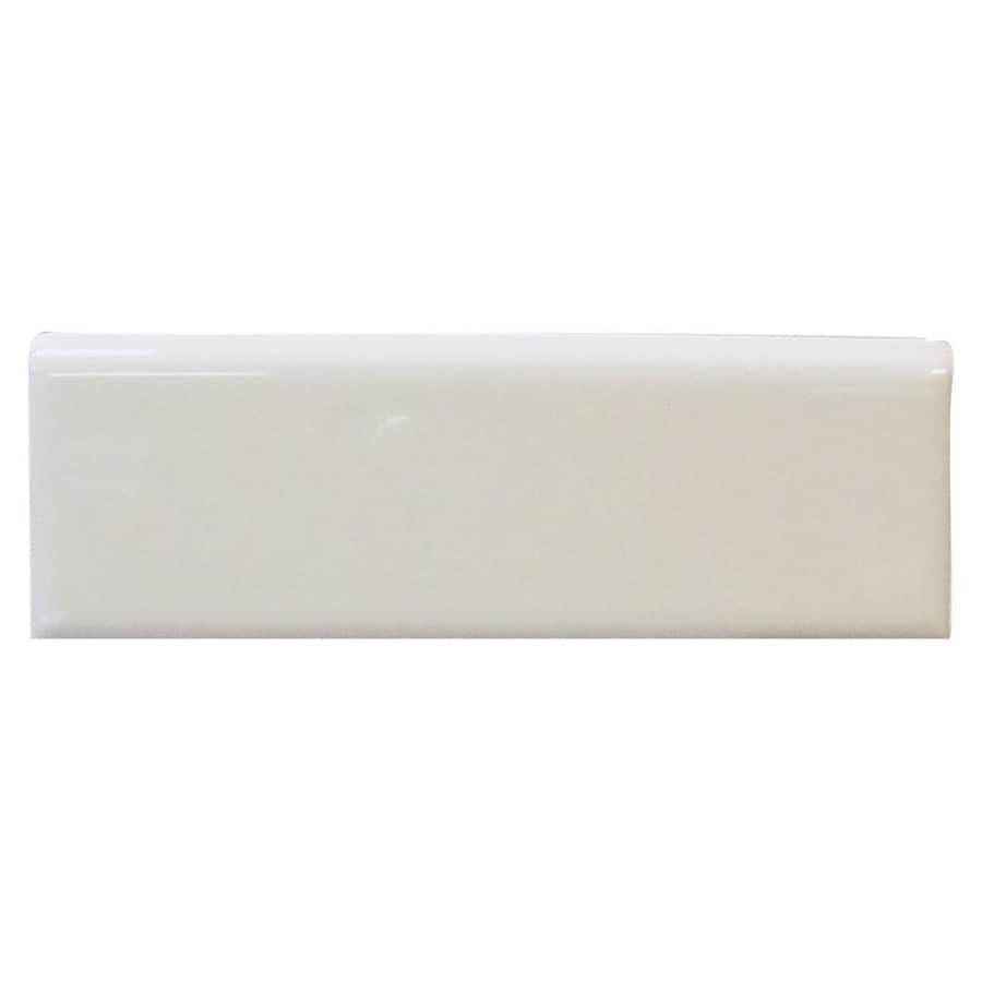 Interceramic Smoke Ceramic Bullnose Tile (Common: 2-in x 6-in; Actual: 2-in x 5.98-in)