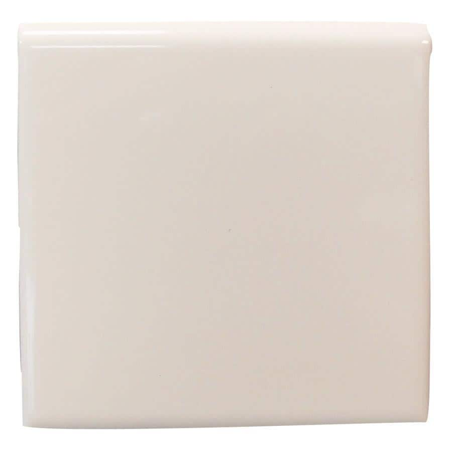 Interceramic Smoke Ceramic Bullnose Tile (Common: 4-in x 4-in; Actual: 4.24-in x 4.24-in)