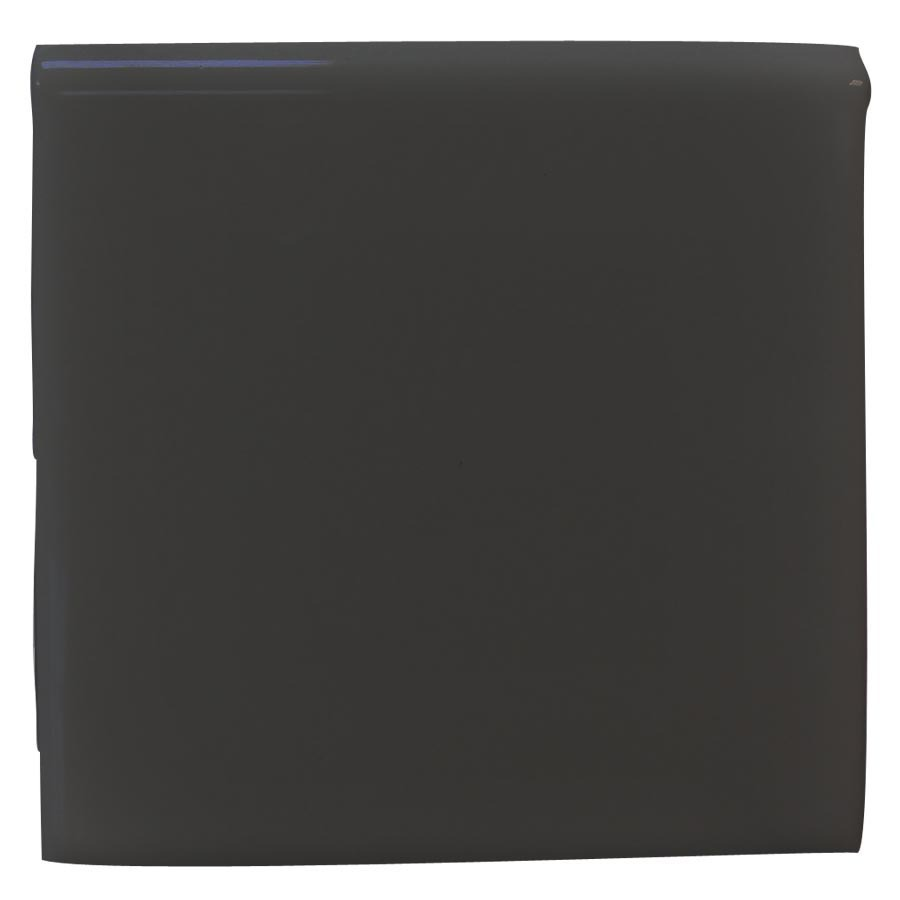 Interceramic Black Ceramic Bullnose Tile (Common: 4-in x 4-in; Actual: 4.24-in x 4.24-in)