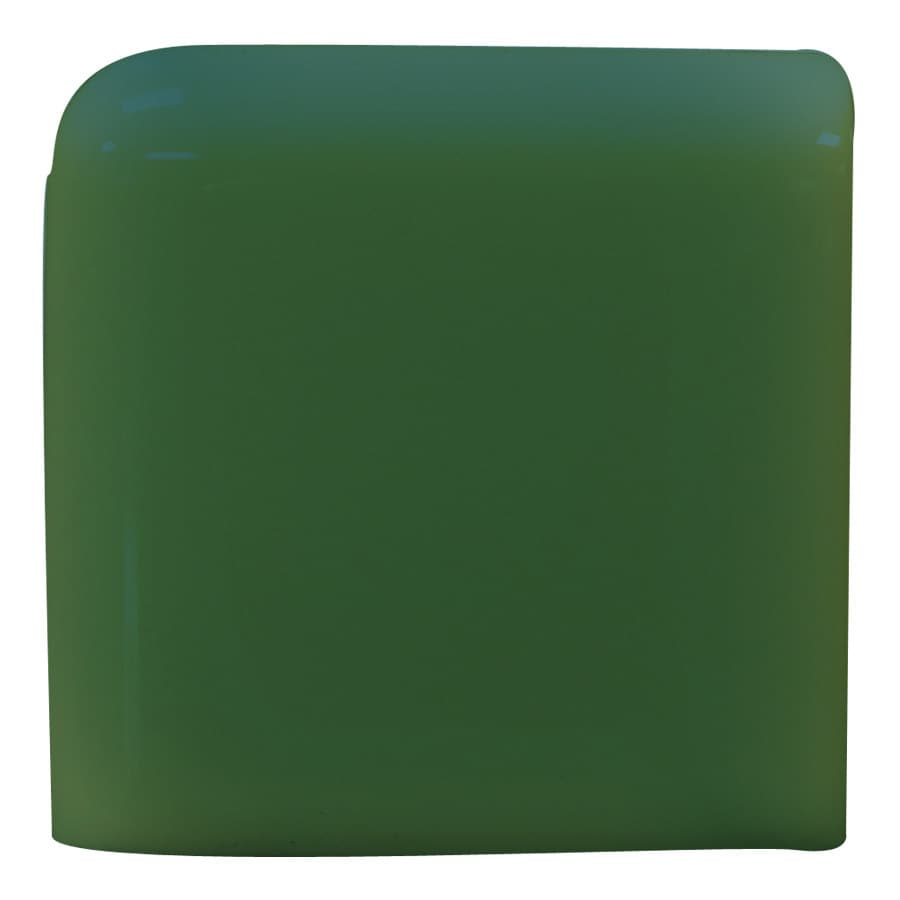 Interceramic Evergreen Ceramic Bullnose Tile (Common: 2-in x 2-in; Actual: 2-in x 2-in)